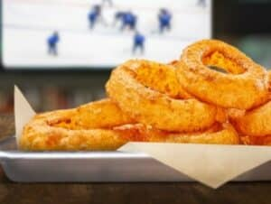 Onion rings while watching an NHL game