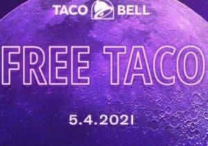 Free Taco at Taco Bell on May 4th