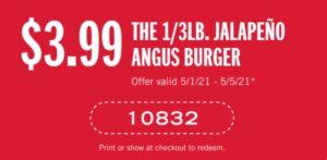 Carl's Jr coupon for the Jalapeno Angus Burger