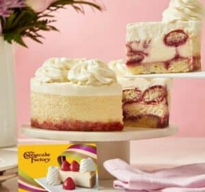 Cheesecake Factory strawberry cheesecake slices