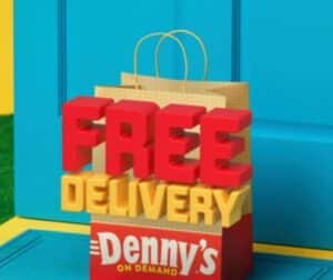 Free delivery with Denny's