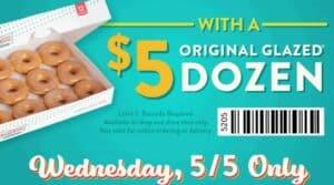 Krispy Kreme doughnuts five dollar doughnut cinco de mayo deal