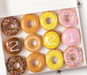 Krispy Kreme doughnuts senior week promo