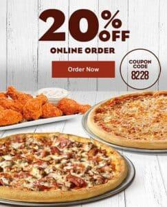 Papa Ginos pizza and wings