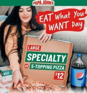 Papa Johns Specialty Pizzas