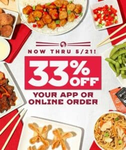 Picture of 33% off of Pei Wei orders
