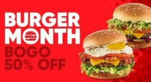 Red Robin Coupon BOGO Burger Month