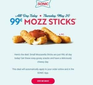 Picture of mozzarella sticks
